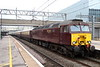 14 April 2018. Operation as traction supplier to the Northern Belle has recently passed from DRS to WCRC. Bodysnatcher 57316 is seen at MK on the rear of the 1Z59 0647 Euston - Liverpool Lime Street. Sister loco 57313 was on the front.