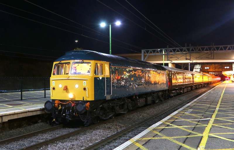 27 October 2018. Rail blue 1733 (47853) stands at MK having arrived with the Locomotive Services Limited operated 5Z22 0155 Crewe Holding Sidings - MK. This ECS working was used for the Lord of the Isles charter to Inverness.