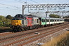 29 September 2018. 37884 Cepheus growls past Soulbury with Southern 455830 in tow working the 5Q70 1202 Stewarts Lane T&RSMD - Wolverton Centre Sidings.