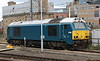 15 September 2018. Arrive blue 67003 stabled at Newcastle on thunderbird duty.