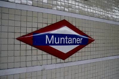 Muntaner FGC station name board 22 November 2014