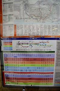 Timetable at Provenca FGC 22 November 2014
