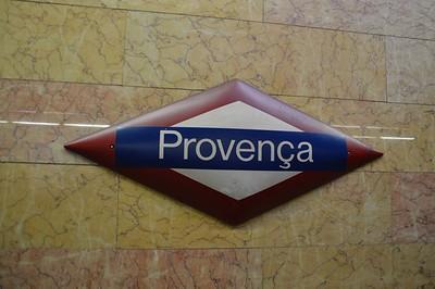 Provenca FGC station name board 22 November 2014