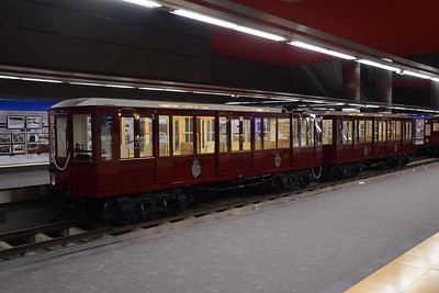 Preserved metro cars at Chamartin station 28 January 2019