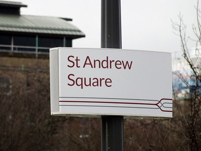 Nameboard at St Andrew Square 24 February 2014