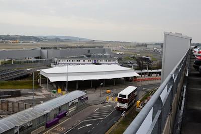 Tram terminus Edinburgh Airport 18 March 2015
