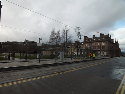 Tram stop at St Andrew Square 24 February 2014