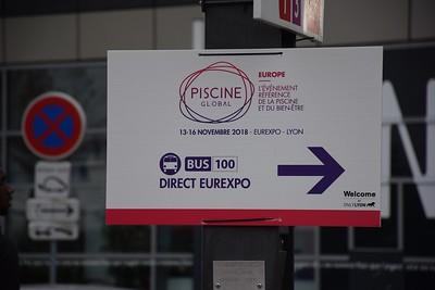 Bus 100 signage at Vaulx-en-Velin 18 November 2018