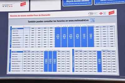 Timetable at Las Tablas 28 January 2019