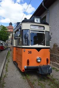 38 at Poststraße Depot Naumburg 30 April 2018