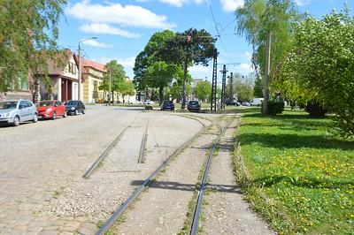 Old track at Poststraße Naumburg 30 April 2018