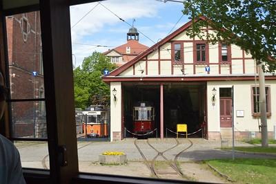Passing the tram depot Naumburg 30 April 2018