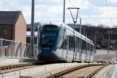 236 leaving Nottingham Station 30 March 2016