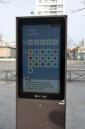 Transport status Porte de Vincennes 19 February 2017