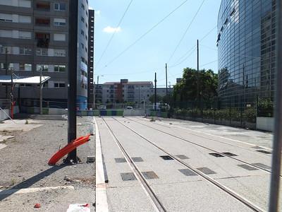 tramline extension at Arenes 26 June 2013