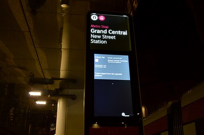 Real time info at New St 28 January 2017