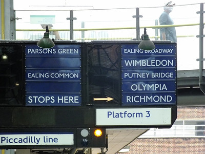 Destination Indicator at Earls Court 21 August 2013