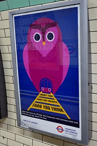 Night Tube ad Earl's Court 7 June 2017