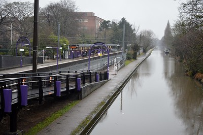 Bournville Station and canal 20 January 2018