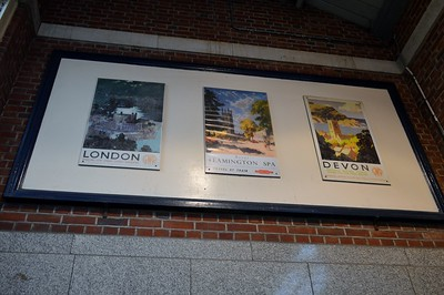 GWR posters at Leamington Spa 21 January 2018