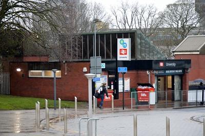 Entrance to University Station 20 January 2018