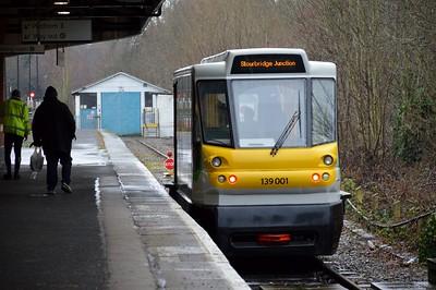 139 001 at Stourbridge Junction 29 January 2017