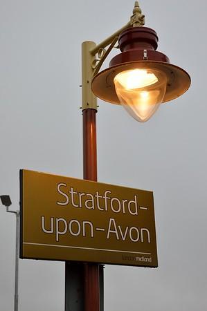 Stratford upon Avon sign & lamp 29 January 2017