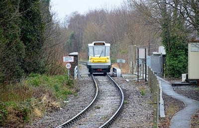 139 001 arrives at Stourbridge Junction 29 January 2017
