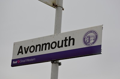 Station sign at Avonmouth 1 April 2016