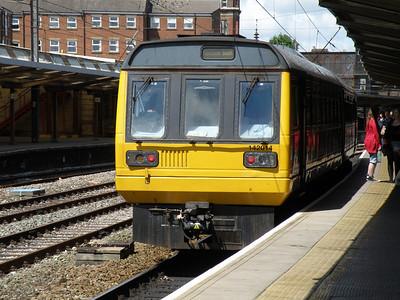 142 014 Preston 9 June 2011 Service to Blackpool South.