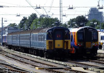 3417 & 450040 Clapham Junction 21 August 2013