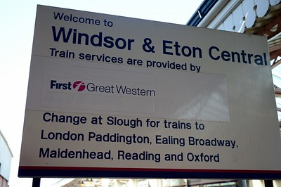 Signage at Windsor & Eton Central 1 September 2017