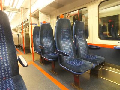 Interior of Chiltern 165 010 London 28 December 2012