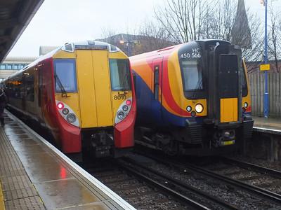458 010 & 450 566 Feltham 29 December 2012