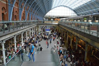 St Pancras concourse area 13 July 2014