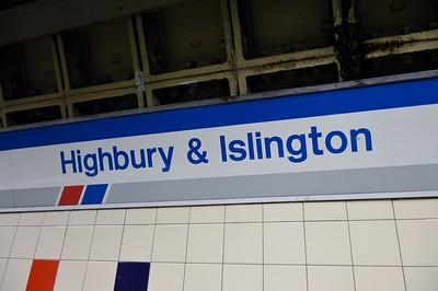 NSE signage at Highbury & Islington 6 May 2015