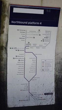 Route map at Highbury & Islington 6 May 2015