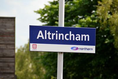 Altrincham Station Sign 22 June 2014