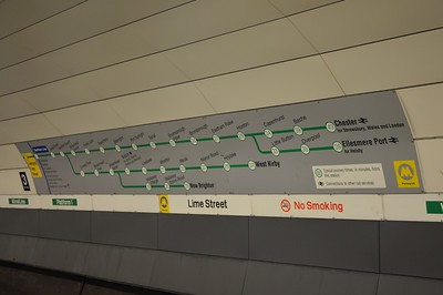 Wirral Line map at Liverpool Lime St 22 August 2016