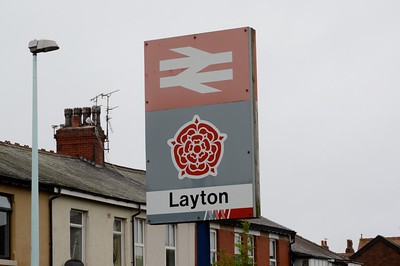 Signage at Layton 22 August 2016 Network Northwest lives on.  NNW was set up in 1989 as an attempt to create a unified network for the North West similar to the more famous Network South East.  It didn't last long and it is amazing with all the rebranding of the railways of the north that a small piece exists here.