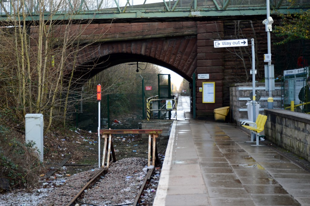 End of the Merseyrail line at  Kirkby 28 December 2017