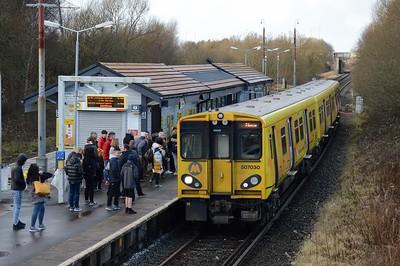 507 030 at Bidston 28 December 2017