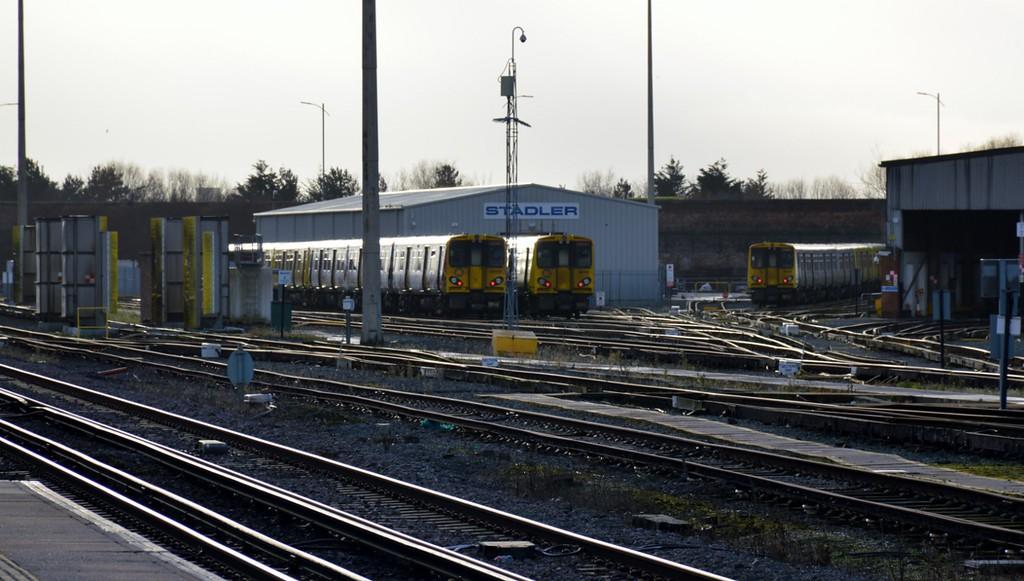 507 002 & 507 011 at Kirkdale depot 28 December 2017