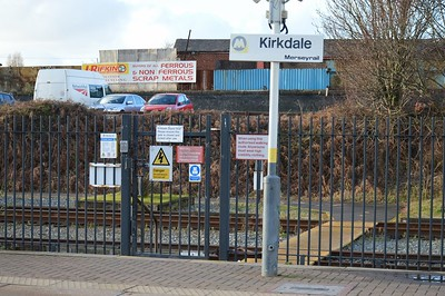 Kirkdale station signage 28 December 2017
