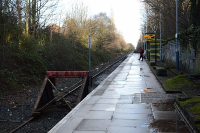 End of the Northern line at  Kirkby 28 December 2017