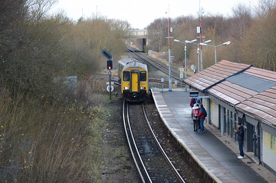 150282 arrives at Bidston 28 December 2017 Arriva Train Wales service from Wrexham