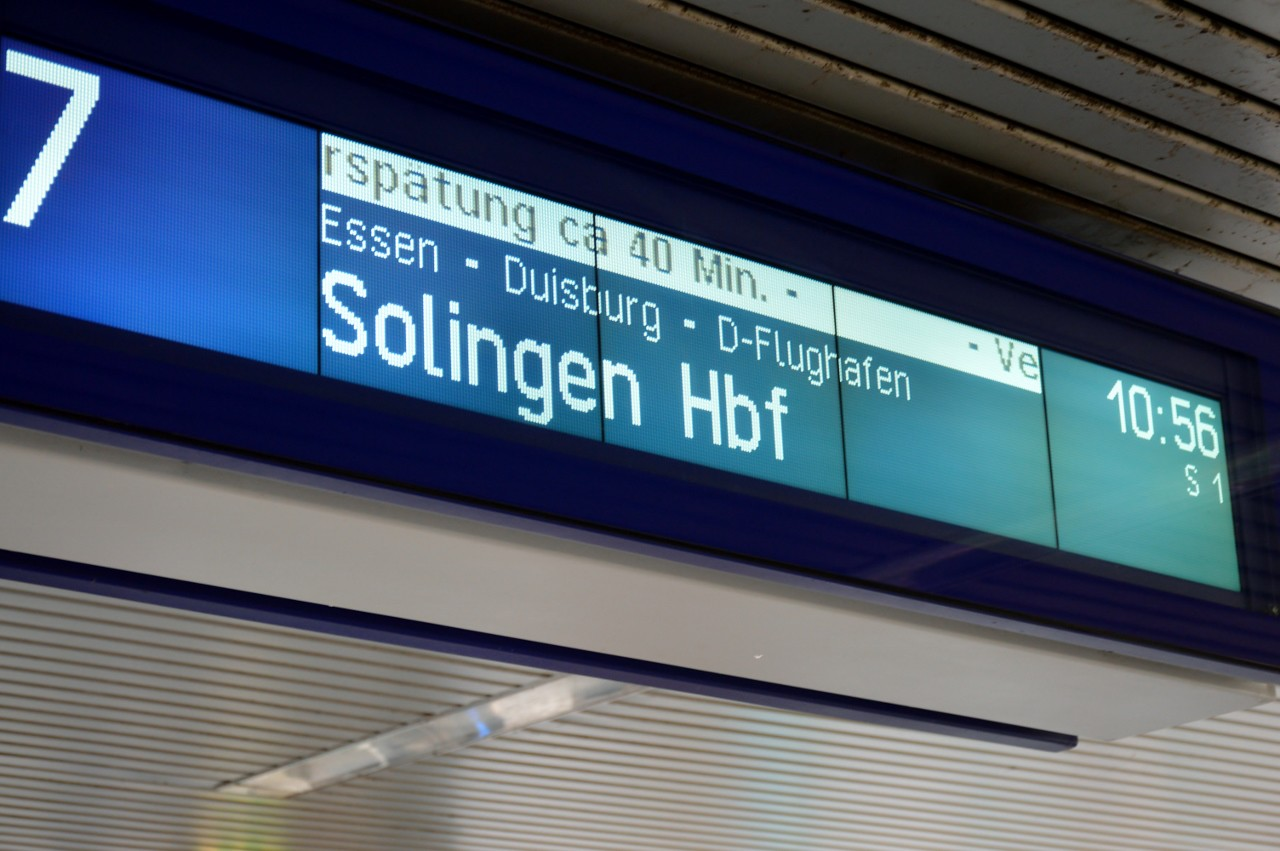 Delays on S1 Bochum Hbf 24 November 2016