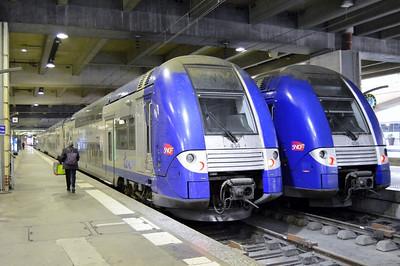 434 & 406 Paris Gare Montparnasse 12 April 2014 TER Centre