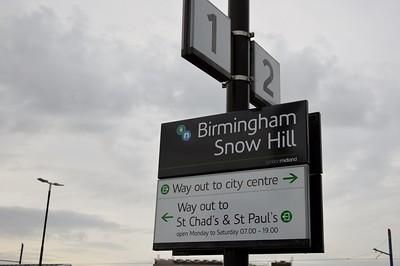Signage at Birmingham Snow Hill 4 May 2015
