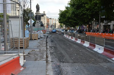 Luas XC works O'Connell St 28 July 2016